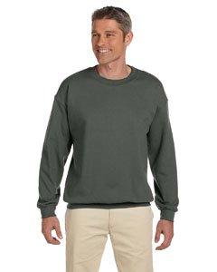 Gildan Men's Heavy Blend Crewneck Sweatshirt - Large - Military Green