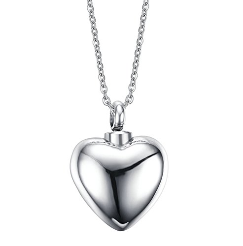 "Aokarry Women's Stainless Steel Classical Perfume Bottle Heart Shape ""Always In My Heart"""