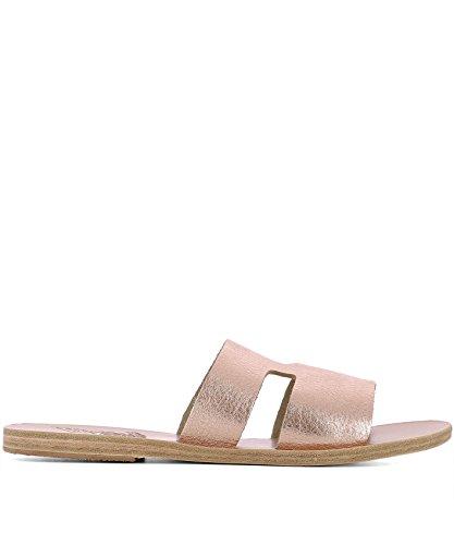 Ancient Greek Sandals Femme APTEROSPINKMETALSAND Rose Cuir Sandales