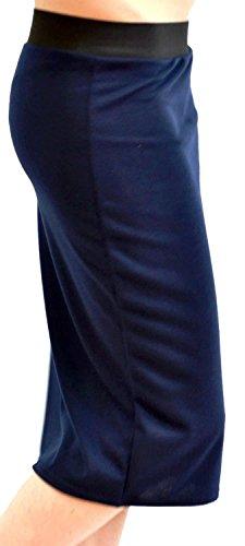 Plaine Jupes Plus Dames Extensible Pickle Taille Midi Pencil Bodycon 44 Chocolate Jersey Nouveau 54 Navy qwaXxEpP
