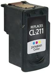 244 Page Yield Equivalent to Canon CL-211 SuppliesMAX Compatible Replacement for CIG117201 Color Standard Yield Inkjet 2976B001AA