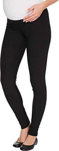 Plush Women's Fleece Maternity Leggings, Black, X-Small