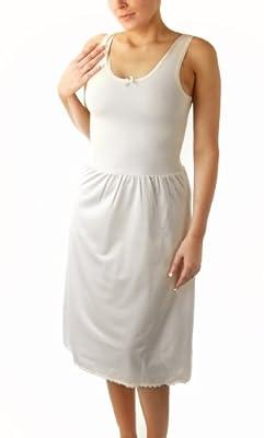 TruFit Women's Cotton Full Slip, Black, White, Beige, Nude, or White/Black