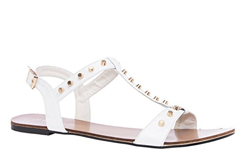 T-Bar Sandals in White Patent, Size US 11.5 / EU 43 (T-bar Flat Sandal)