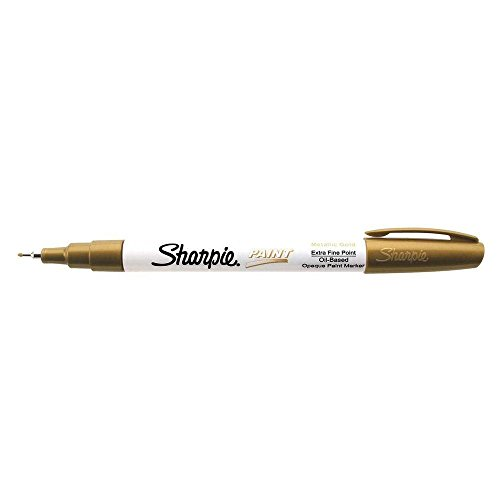 Sharpie - Paint Markers, Oil Base, Extra Fine, Metallic Gold, Sold as 1 Each, SAN -