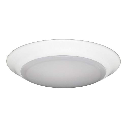 - Jesco Lighting CM405M-27wH 2700K LED Low Profile Ceiling Fixture ADA Sconce/Retrofit with Polycarbonate Shade, White, 6