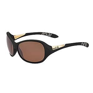 Bolle Women's Grace Sunglasses, Matte Black, Small/Medium