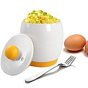Inovey Microondas Huevo Cocina Diseño Portátil con Tapa De ...