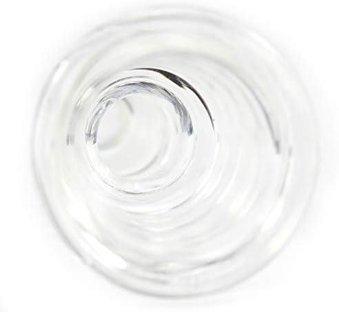 budawi-Headshop Glas Chillum 14,5er Schliff, Steckchillum Adapter Chillum für Glasbong