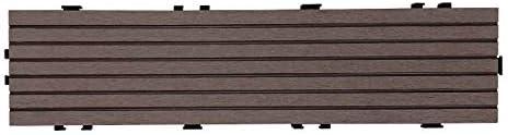 ウッドデッキ ウッドパネル ミニパネル 108枚セット【2019年9月9日接続部分 仕様変更】 人工木 ウッドデッキタイル 樹脂ウッドパネル 【3色選択可】 (ダークブラウン)