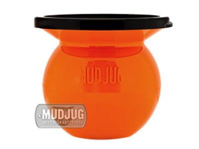 New Orange Mudjug Portable Spittoon