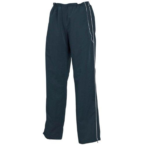Tombo Teamsport - Pantalones de chándal con bajos con cremalleras para mujer Negro/Blanco