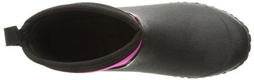 Pluie Black Bottes de Muckster Bottines et Women's Femme II Ankle Hot Noir Muck Pink Boots Xqn471xz
