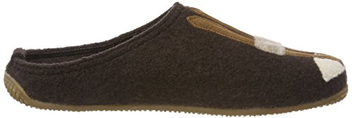 Pantoffel Open amp; Schi Kitzbühel Coffee Women's Braun Slippers 293 Back Living Hund Black nOSEUYp