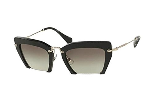 Miu Miu 1AB-0A7 Black 10QS Rasoir Cats Eyes Sunglasses Lens Category - Rasoir Miu Glasses Miu