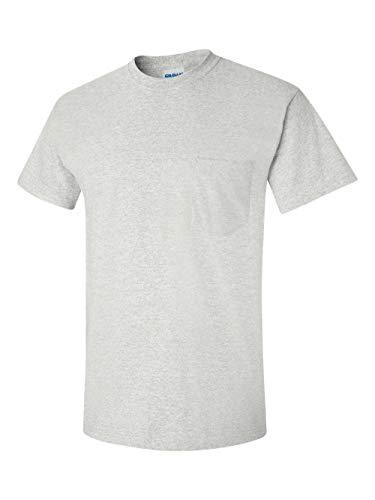 (Gildan Mens 6.1 oz. Ultra Cotton Pocket T-Shirt G230 -ASH GREY)