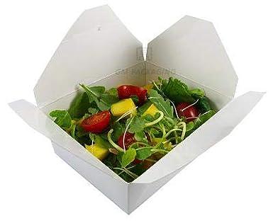 Caja de comida desechable – No. 3 cajas de papel blanco para ...