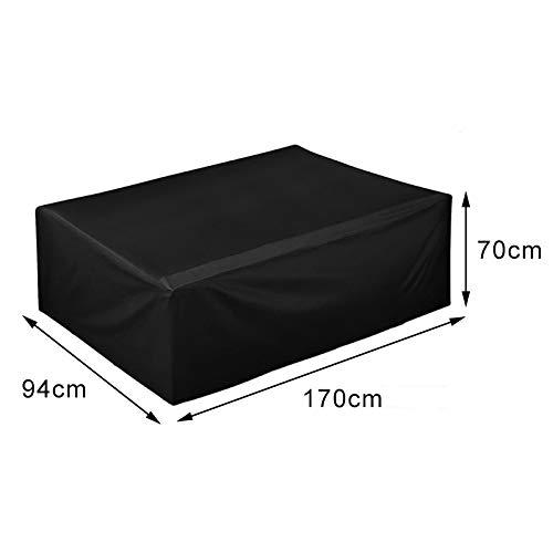 per Patio Copertura Protettiva per mobili da Giardino Traspirante Impermeabile Dimensioni: 170 x 94 x 70 cm Tavolo Giardino Anti-UV Depory per mobili da Esterni in Tessuto Oxford