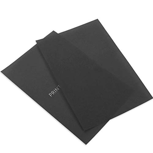 Printed Black Translucent Vellum, 100 Pack by LCI Paper
