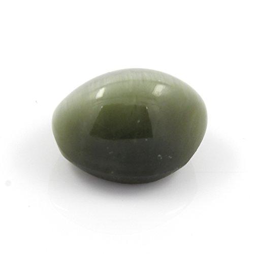 Be You 10.96cts Gris verdâtre Couleur Facettes Ovale Forme Naturel Indien œil-de-chat