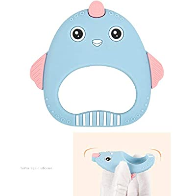 Silicone Baby Teething Toys Chicken Shaped Baby Teether Natural Organic Freezer Safe Teether Sensory Toy for Toddlers Infants Blue 1PC : Baby