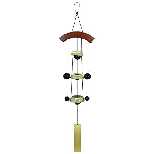"""Bronze Bell Garden (Astarin Bell Wind Chimes with Bronze Copper, 26""""Temple Bell Garden Wind Chimes for Hanging Doorbell or Home Housewarming Backyard Hanging Decor,Golden)"""