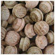 WIDGETCO 3/8'' Oak Button Top Wood Plugs