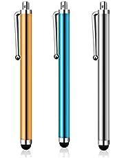 أقلام ستايلس لشاشات اللمس، أقلام ستايلس 3 قطع كومبو متعدد الألوان للآيباد، قلم ستايلس للكمبيوتر اللوحي، حساسية عالية عالمية لأندرويد/هاتف/آيباد برو/إير وجميع الأجهزة الذكية (C7)