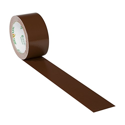 Duck Brand 1304965 Color Duct Tape, Brown, 1.88 Inches x 20 Yards, Single Roll -