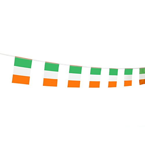 "TSMD 100 Feet Ireland Flag Irish Flag,76Pcs Indoor/Outdoor National Country Flags Banner,Party Decorations Supplies For Olympics,Bar,Sports Event,School Event,International Festival(8.2"" x 5.5'')"
