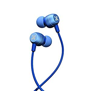 X-mini Nova Comfort Fit In Ear Earbud Headphones W Dynamic Driver Crystal Clear Sound, Ergonomic Design With Remote Control And Microphone For Iphones, Samsung, Android Phone (Blue)