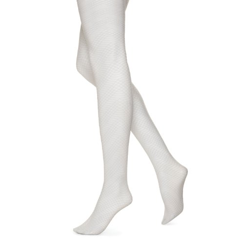 Hue Women's Zig Zag Texture Tights, Chrome, M/L by HUE
