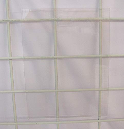 New Gridwall Clear Acrylic Sign Holder Vertical 11
