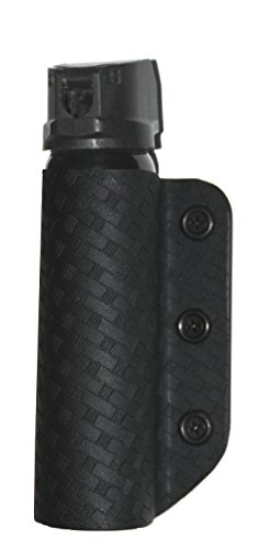 - Custom Thermoform Design Police Duty OC Pepper Spray Holster/Pouch MK-4 (Basketweave Pattern) (Hard Plastic, Durable)