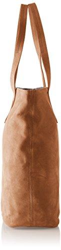 Timberland Tb0m5737, Borsa Tote Donna, 14.5x36.5x39.5 cm Marrone (Tortoise Shell)