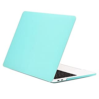 """TOP CASE MacBook Pro 13 inch Case 2019 2018 2017 2016 Release A2159 A1989 A1706 A1708, Classic Series Rubberized Hard Case Cover Compatible MacBook Pro 13"""" W/WO Touch Bar - Turquoise Blue (B01MSZI6KC)   Amazon price tracker / tracking, Amazon price history charts, Amazon price watches, Amazon price drop alerts"""