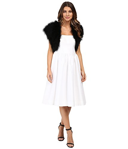 Betsey Johnson Women's Blue By Betsey Promise Marabou Shrug Black Small