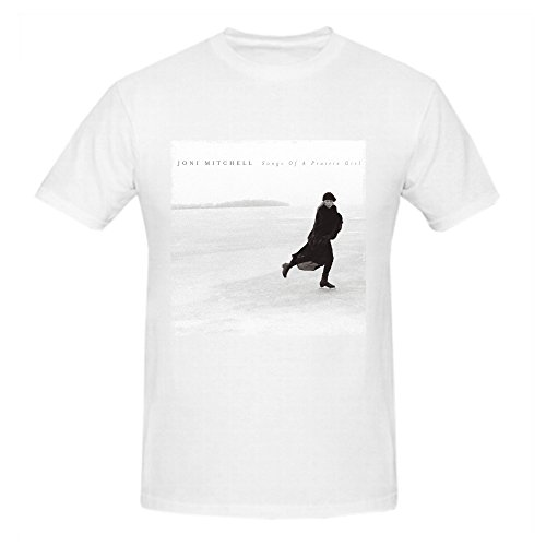 Heeloo Men's Joni Mitchell Songs of a Prairie Girl Personalized Big T Shirt (Joni Mitchell T-shirts)