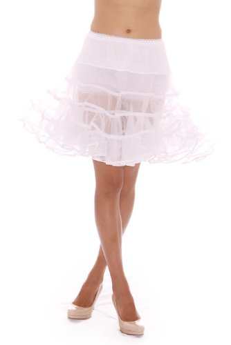 The Lindy Hop Costumes (Malco Modes Girls Crinoline Petticoat Skirt Underskirt for 50s Poodle Costume Large White)