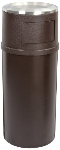 Rubbermaid Commercial FG818088BRN 25-gallon Classic Ash/Trash Container with Doors, (Atrium Waste Container)