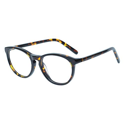 Kids Glasses Eyewear Frame for Teens Children Boys Girls with Oval Clear Lens Tortoise(Age ()
