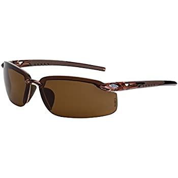 c7e4712ed2d9 Crossfire Eyewear 291113 Es5 Polarized Safety Glasses with High Definition  Brown Polarized Lens and Crystal Brown Frame