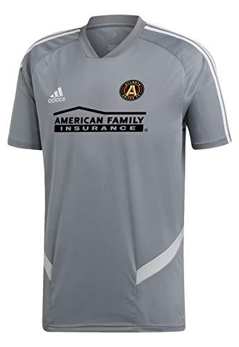 adidas Atlanta United FC Short Sleeve Training Jersey-Gray/White-S