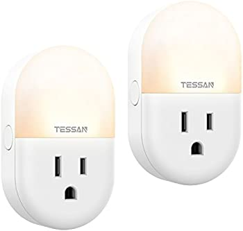 2-Pack TESSAN WiFi Smart Plug Alexa Google Outlet Night Light