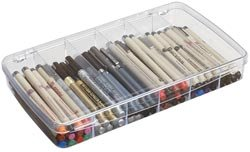 Bulk Buy: Art Bin Prism Box 6 Compartments 11.5''x6.625''x1.75'' Translucent 1106AB (2-Pack) by ArtBin
