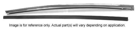 66-67 GM A-Body (Coupe & Convertible) Quarter Window Chrome Vertical Molding - RH (Window Convertible Quarter)