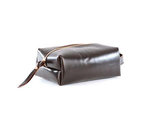 Brown Leather Dopp Kit- James Dopp Kit by Shana Luther Handbags