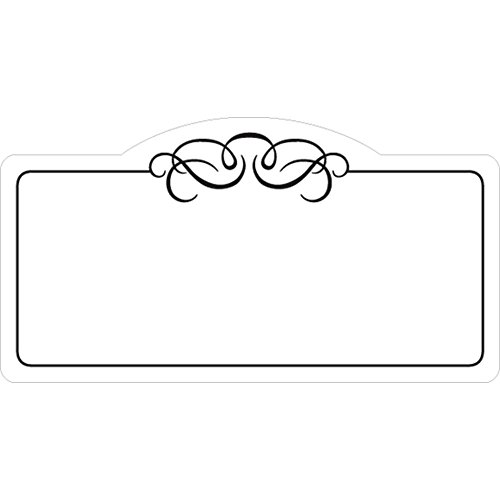Deli Tag Write on Style with Black Scroll Design White Heat Resistant Merchandising Tags - 4