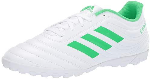 (adidas Men's Copa 19.4 Turf Soccer Shoe, Solar Lime/White, 7.5 M US)