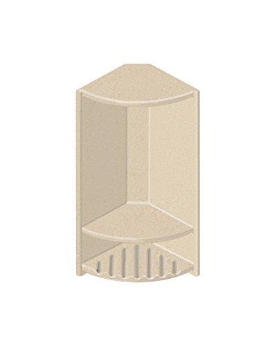 Transolid ACCESS0004-B1 Decor 6'' x 14-1/2'' Double Corner Shelf, Matrix Khaki by Transolid